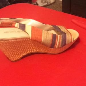 Anne Klein Shoes - Anne Klein multi color wedges.